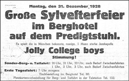 Predigtstuhlbahn Silvester1928