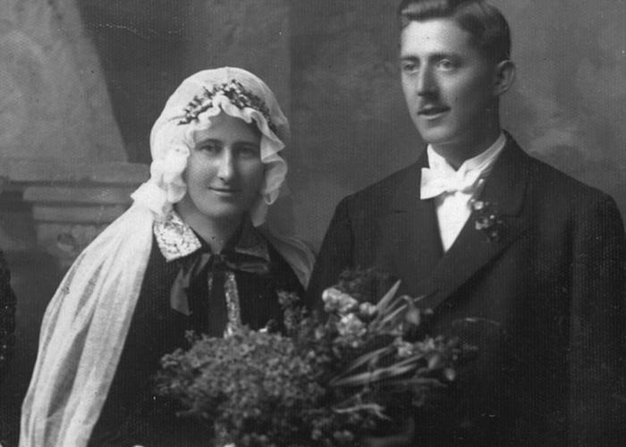 Foto Nostalgie Brautpaar